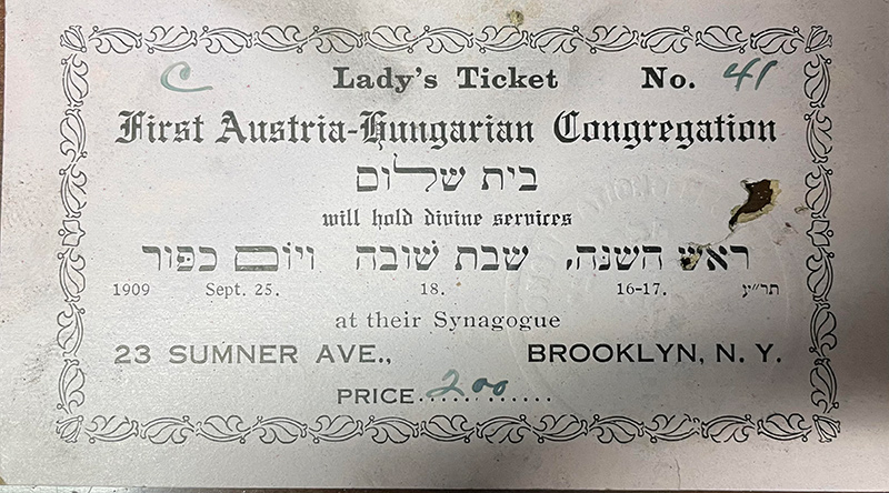 Historical services ticket