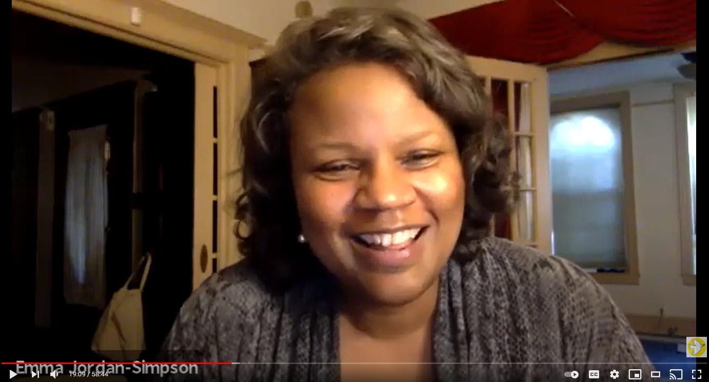YouTube video snapshot of Emma Jordan Simpson